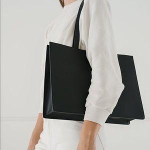 BAGGU Large Retail Leather Tote